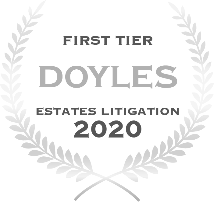 First Tier law firm.  Estate Litigation 2020